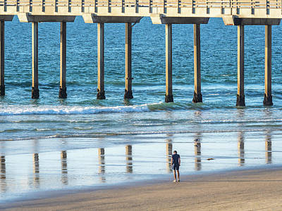 Photograph - Walk To The Pier by Robin Zygelman