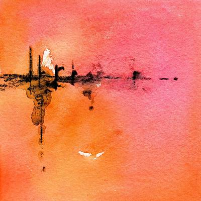 Painting - Walking A Desert Sunset 1 by CarlinArt Watercolor
