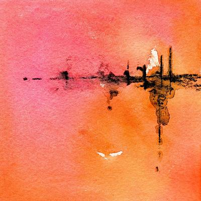 Painting - Walking A Desert Sunset 2 by Carlin Blahnik CarlinArtWatercolor