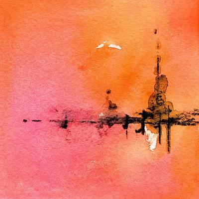 Painting - Walking A Desert Sunset 3 by Carlin Blahnik CarlinArtWatercolor