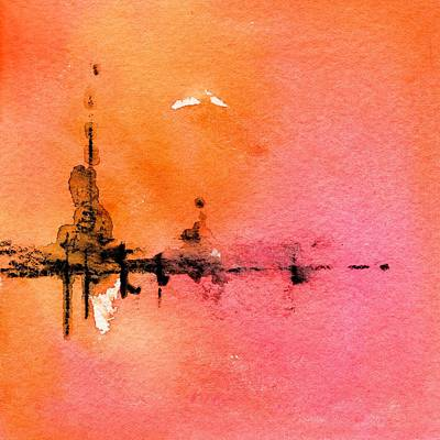 Painting - Walking A Desert Sunset 4 by CarlinArt Watercolor