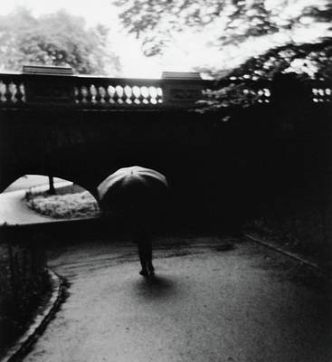 Photograph - Walking Alone With Umbrella by Adam Garelick