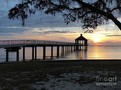 Photograph - Walking Bridge To The Gazebo by Rosanne Licciardi