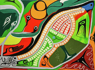 Painting - Walking East B by Juan Contreras
