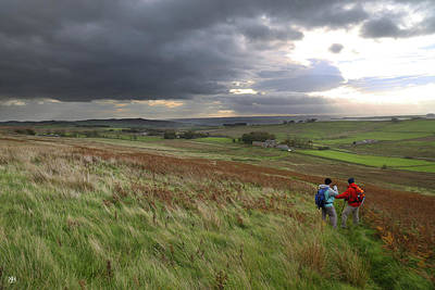 Photograph - Walking Hadrian's Wall by John Meader