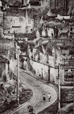 Photograph - Walking In Matera by Roberto Pagani