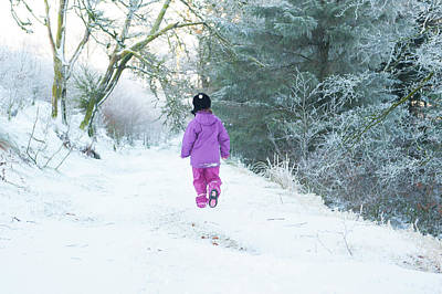Photograph - Walking In The Snow by Helen Northcott
