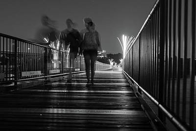 Photograph - Walking On The The Tyler Potterfield Memorial Bridge by Doug Ash