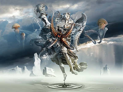 Surrealism Digital Art - Walking on Water or Correlation of Dreams and Reality by George Grie