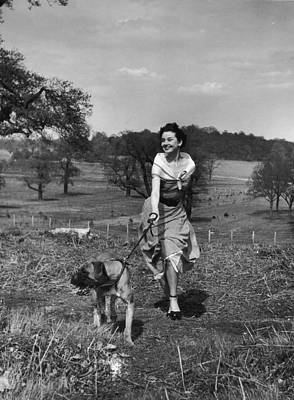Photograph - Walking The Dog by Hulton Archive