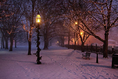 Walking The Path On Salem Ma Common Art Print
