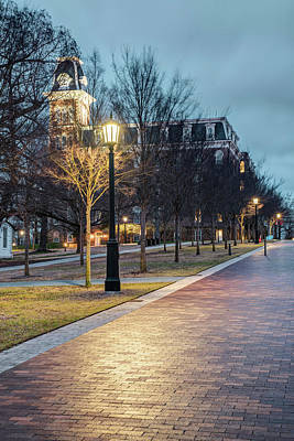 Photograph - Walking To Old Main - University Of Arkansas by Gregory Ballos