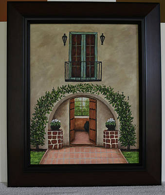 Painting - Arched Entrance by Glroia Johnson