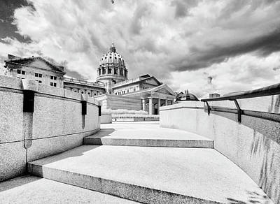 Photograph - Walkway Up To The Pennsylvania Capital Plaza by Paul W Faust - Impressions of Light