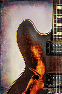 Photograph - Wall Art Gibson Guitar Art 1744.31 by M K Miller