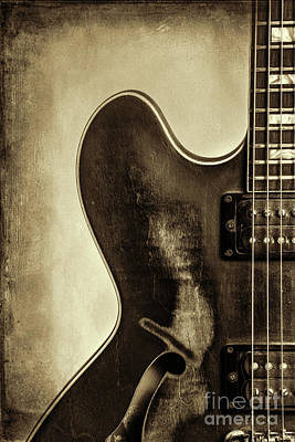 Photograph - Wall Art Gibson Guitar Image 1744.32 by M K Miller