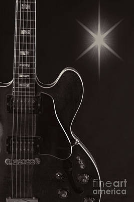 Photograph - Wall Art Sky Gibson Guitar Image 1744.009 by M K Miller