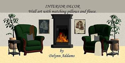 Digital Art - Wall Art With Matching Pillows Or Fleece Home Decor By Delynn Addams by Delynn Addams