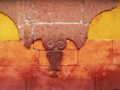 Photograph - Wall In San Miguel, Mexico by Billnoll