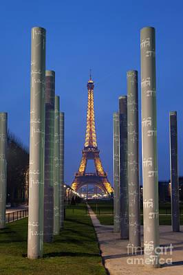 The Beatles - Wall of peace and tour Eiffel, Paris, Ile de France, France by Francisco Javier Gil Oreja