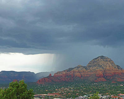 Photograph - Wall Of Rain Over Sedona Az Red Rock by Toby McGuire