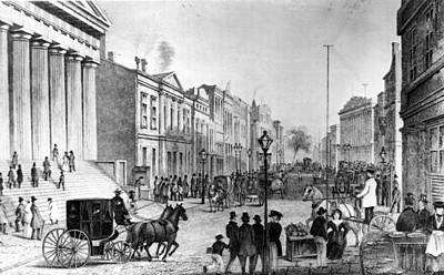 Wall Street In 1860s Art Print by Fpg