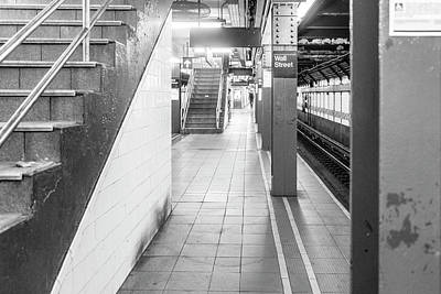 Photograph - Wall Street Station Black And White by Sharon Popek