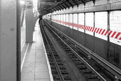 Photograph - Wall Street Subway Stripes by Sharon Popek