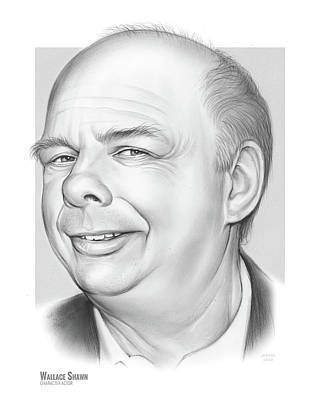 Drawings Royalty Free Images - Wallace Shawn Royalty-Free Image by Greg Joens