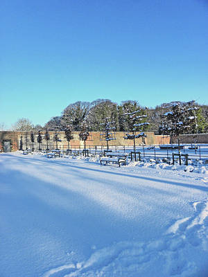 Photograph - Walled Garden Winter Landscape by Lachlan Main