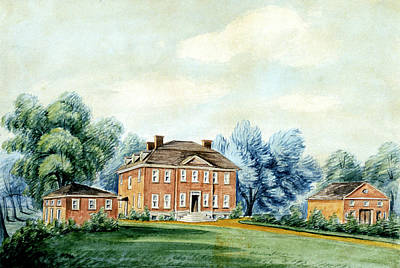 Drawing - Walnut Grove, Philadelphia by William Breton