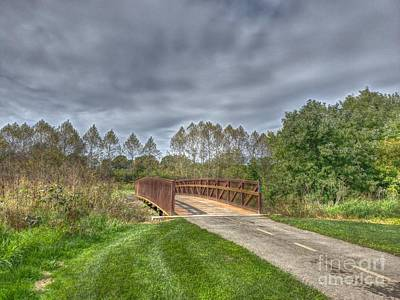 Photograph - Walnut Woods Bridge - 2 by Jeremy Lankford