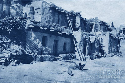 Photograph - Walpi Hopi Villages Located On First Mesa In Navajo County, Northern Arizona 1905 by California Views Archives Mr Pat Hathaway Archives
