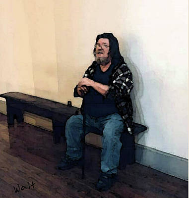 Digital Art - Walt Sitting by Walter Chamberlain