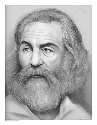 Drawings Rights Managed Images - Walt Whitman Royalty-Free Image by Greg Joens