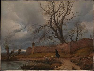 Door Locks And Handles - Wanderer in the Storm 1835 by Julius von Leypold