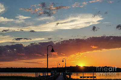 Photograph - Wando River - Palmetto Sunrise by Dale Powell