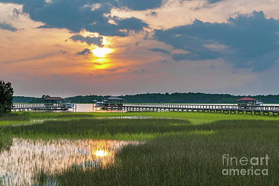 Photograph - Wando River Sunset - Rivertowne On The Wando by Dale Powell