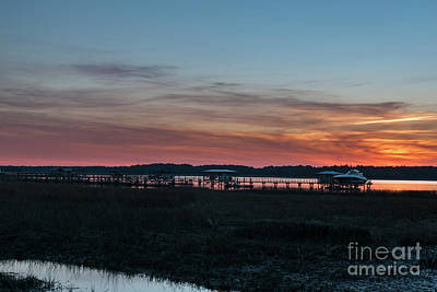 Photograph - Wando River Sunset Sky - Charleston South Carolina by Dale Powell