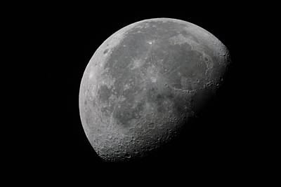 Photograph - Waning Gibbous Moon by Richard Stephen