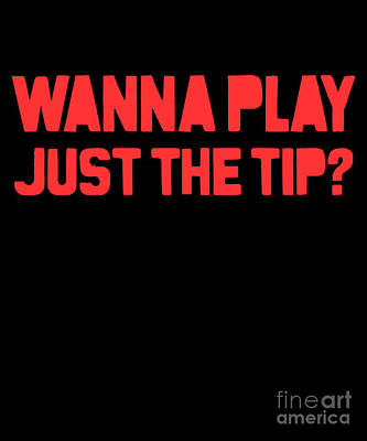 Digital Art - Wanna Play Just The Tip by Flippin Sweet Gear