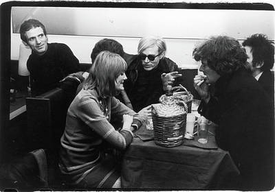 Photograph - Warhol & Co. At Maxs Kansas City by Fred W. Mcdarrah