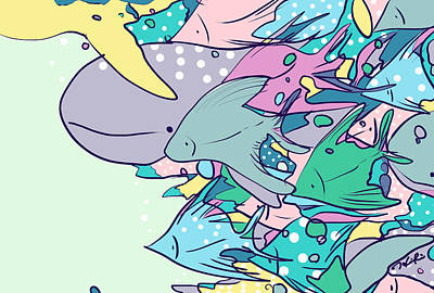 Illustration Digital Art - Warm Current by Hiki