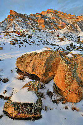 Photograph - Warm Light On Boulders In The Book Cliffs by Ray Mathis