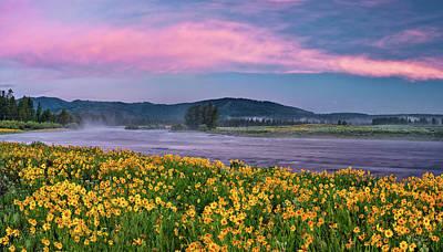 Photograph - Warm River Spring Sunrise by Leland D Howard