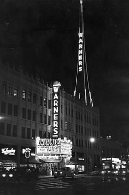 Photograph - Warners Cinema by Kurt Hutton