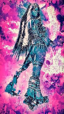 Mixed Media - Warrior Women by Matra Art