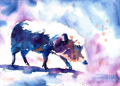 Painting - Warthog Colorful Watercolor Painting.  Fine Art Painting Of Wart by Ryan Fox