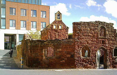 Photograph - Wartime Ruins Of St Catherines Chapel And Almshouses Exeter Devon by Richard Brookes
