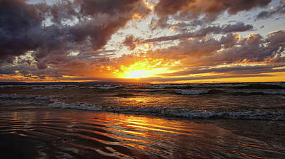 Photograph - Wasaga Beach Sunset by Bryan Smith